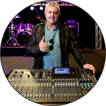 La leyenda de la guitarraAllan Holdsworth elige BEHRINGER X32
